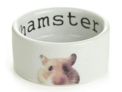 Keramik skål med hamster. Ø7.5 cm