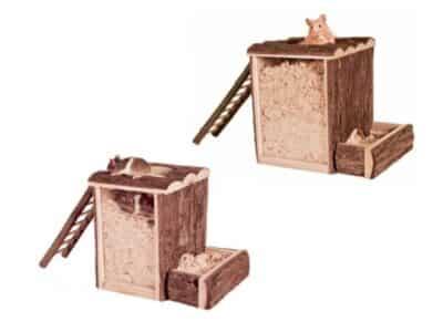 Trixie grave og legetårn til hamster og mu