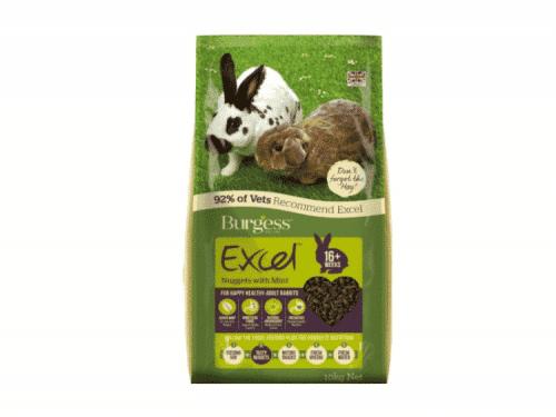 Burgess Excel Adult Rabbit med mint