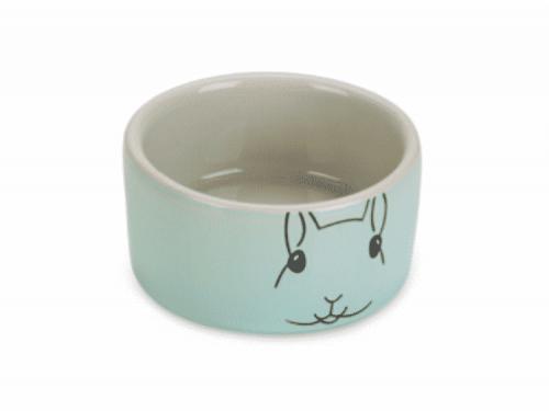 keramik skål mint/grå 7,5cm
