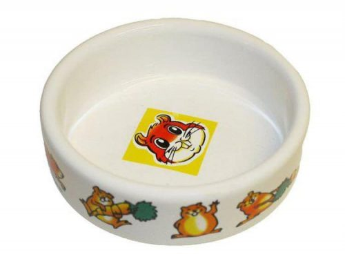 Keramikskål smådyr hamster 8,5x8,5x3 cm