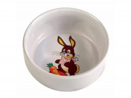 tx6063 - Kaninskål med motiv keramik ø11 cm