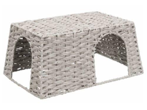 tx61162 - Hus til kaniner, papirgarn, 45 × 20 × 30 cm, grå