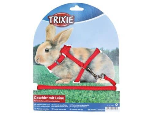 tx6150 - Kanin-marsvin sele nylon med line - Rød